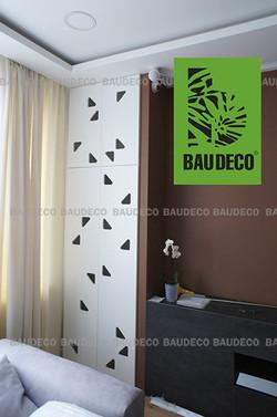 Интерьер комнаты с перегородкой