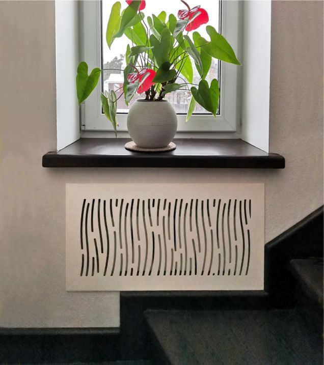 Декоративная решетка на батарею отопления