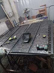 Изготовление раздвижной двери из металла