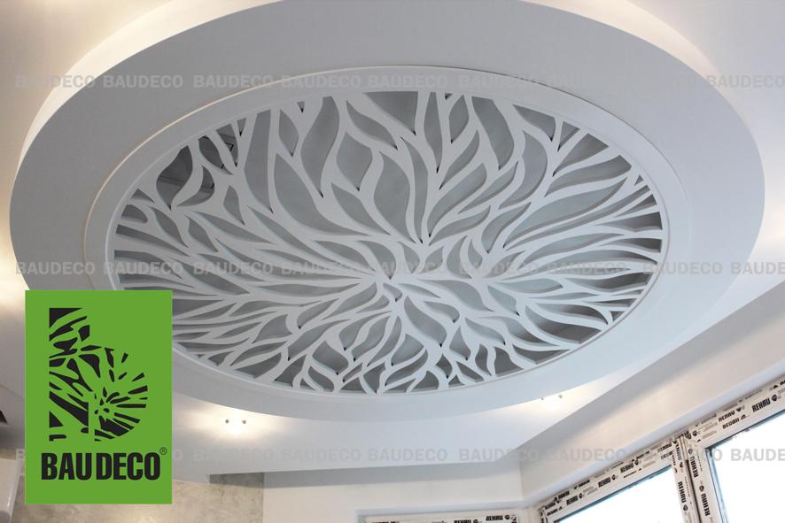 Декоративный резной потолок из МДФ