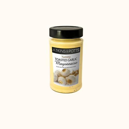 ATKINS AND POTTS TOASTED GARLIC MAYONNAISE 200g