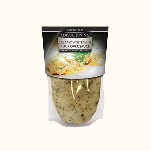 ATKINS AND POTTS CLASSIC WHITE WINE SAUCE 200g