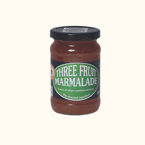 WELSH SPECIALITY THREE FRUIT MARMALADE 340g