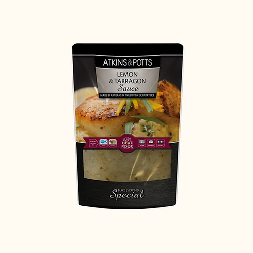 ATKINS AND POTTS LEMON AND TARRAGON SAUCE 350g