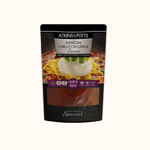 ATKINS AND POTTS MEXICAN CHILLI CON CARNE SAUCE 350g
