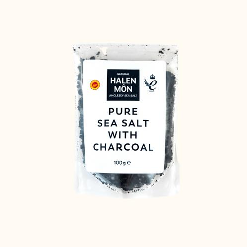 HALEN MON PURE  SEA SALT WITH CHARCOAL 100G