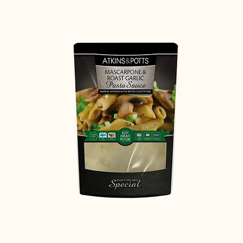 ATKINS AND POTTS MASCAPONE AND ROASTED GARLIC 350g