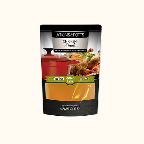 ATKINS AND POTTS CHICKEN STOCK 350g