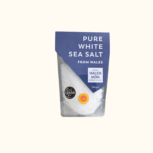 HALEN MON PURE WHITE SEA SALT 100G