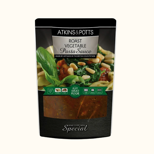 ATKINS AND POTTS ROASTED VEGETABLE PASTA SAUCE 350g