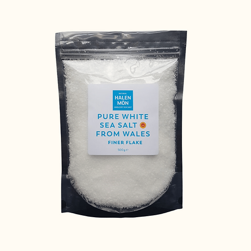 HALEN MON PURE WHITE SEA SALT FINER FLAKES 500G