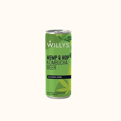WILLY'S KOMBUCHA BEER (HEMP & HOP) 250ml