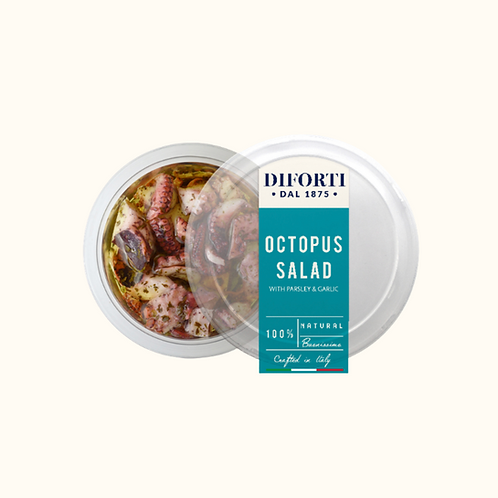 DI FORTI CHOPPED OCTOPUS WITH PARSLEY AND GARLIC SALAD 245g