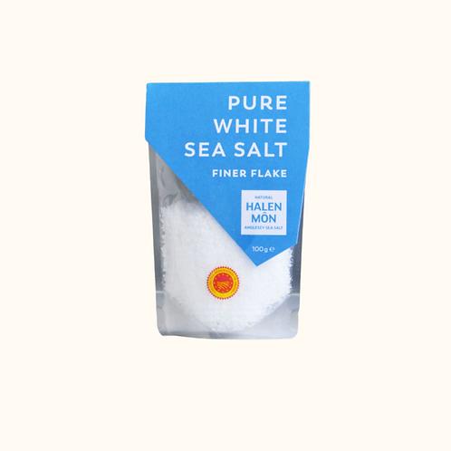HALEN MON PURE WHITE SEA SALT FINER FLAKES 100G