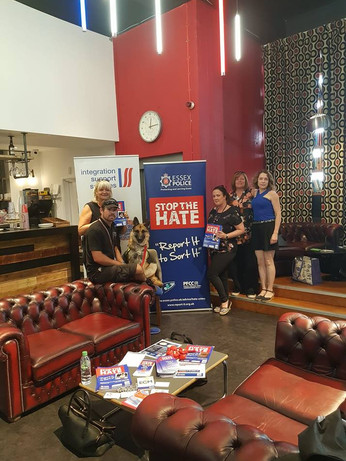 2 August 2018. Hate crime awareness session at Harlow Playhouse.