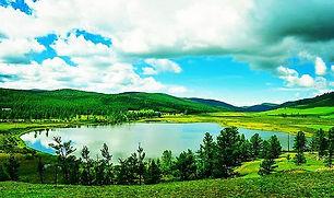 The Blue lake lies at the feet of Khar Z