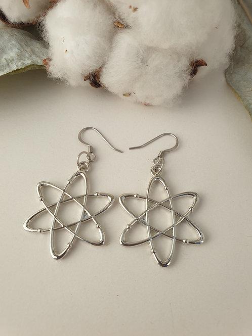Boucles d'oreilles Atomes