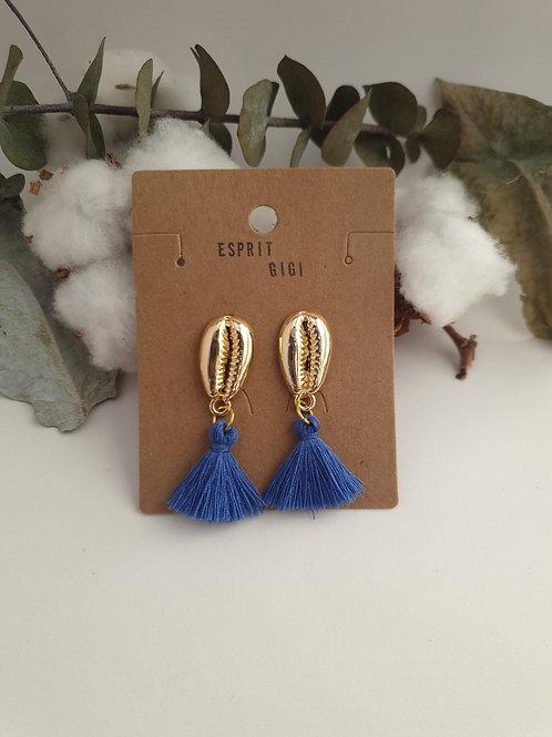 Boucles d'oreilles playa bleu