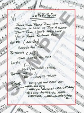 Let Me Be The One - Lyric Sheet - Autographed