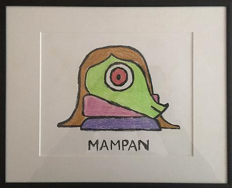 Mampan Crayon Drawing