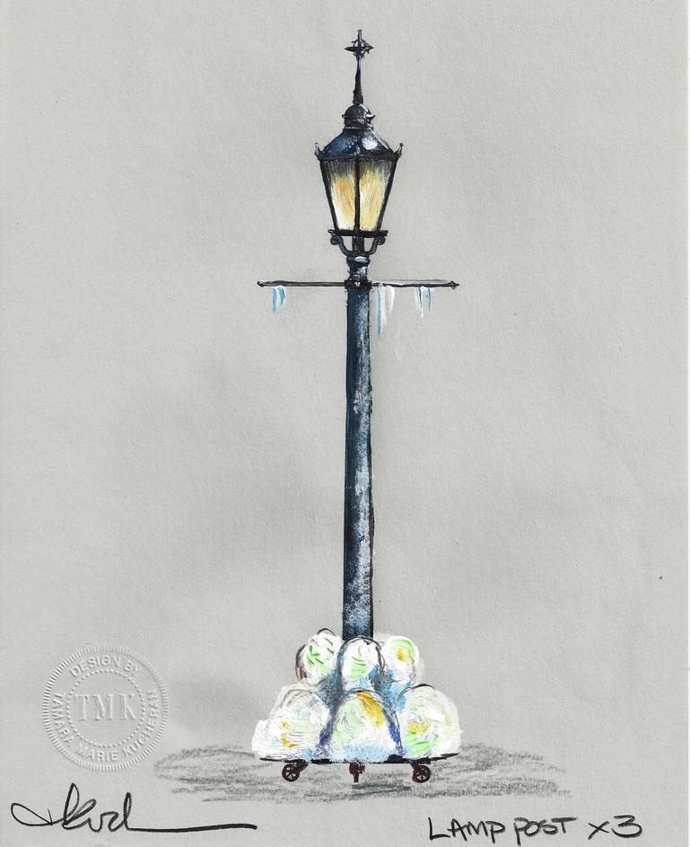 Lamp Post Paint Elevation