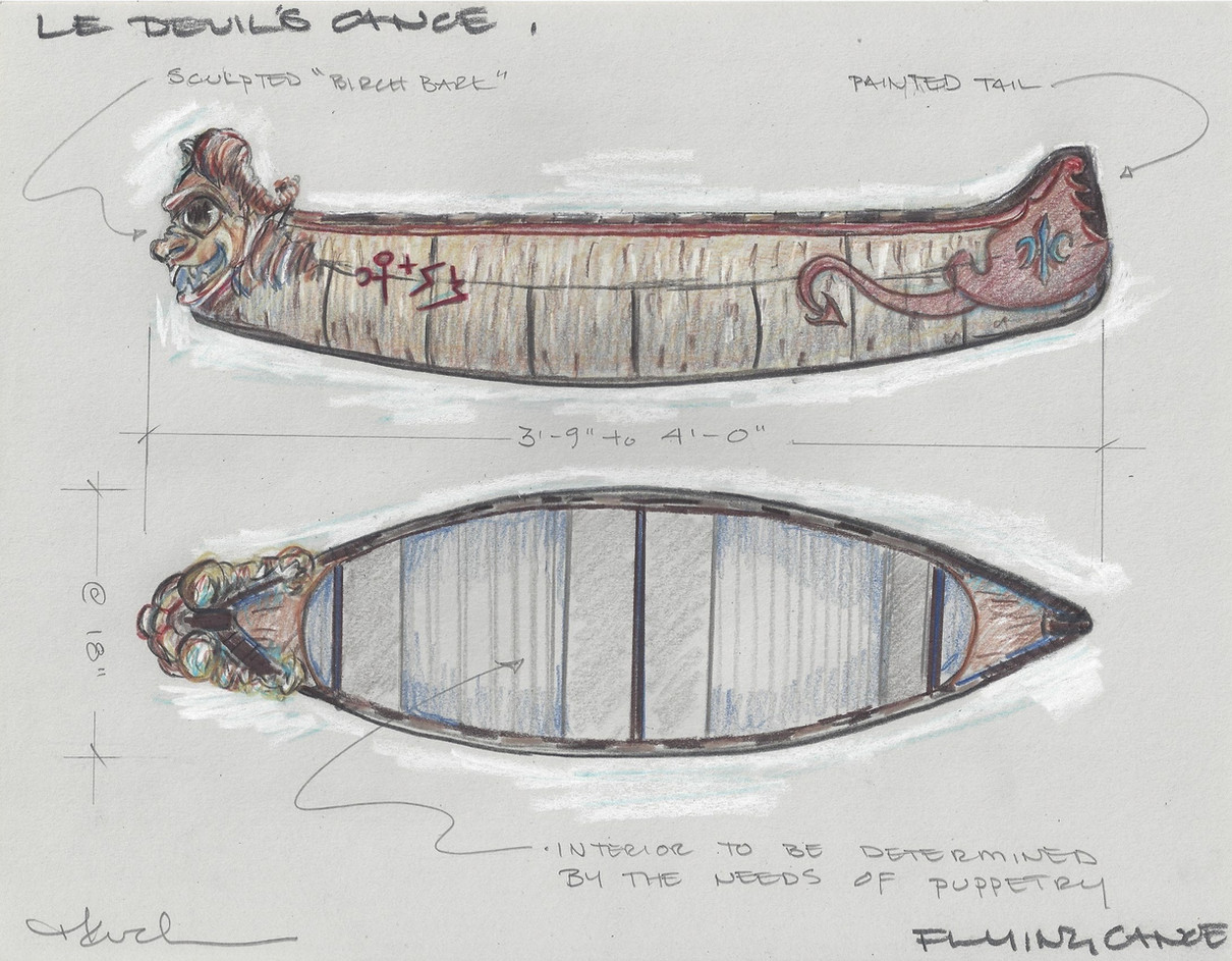 Le Devils Canoe | Side and Top View