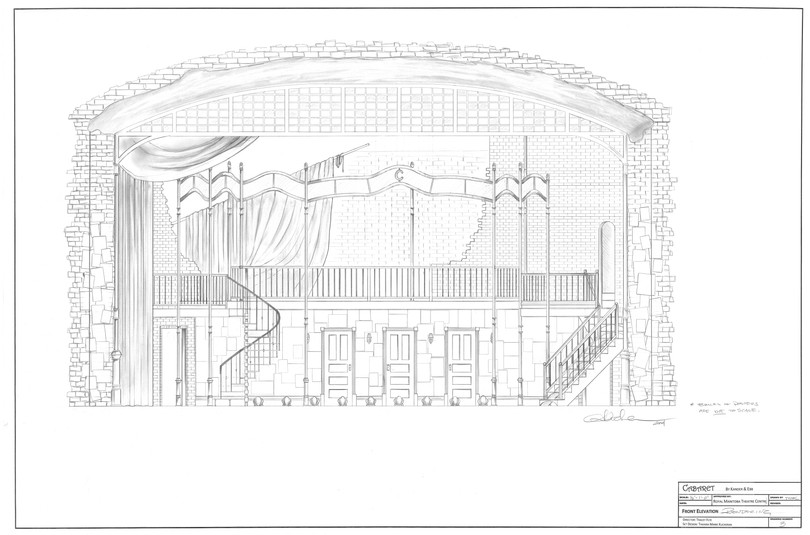 Cabaret Drafting | Front Elevation