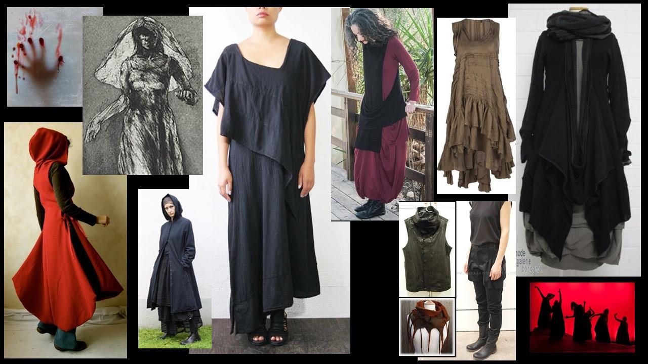 Female Costume Concept Board