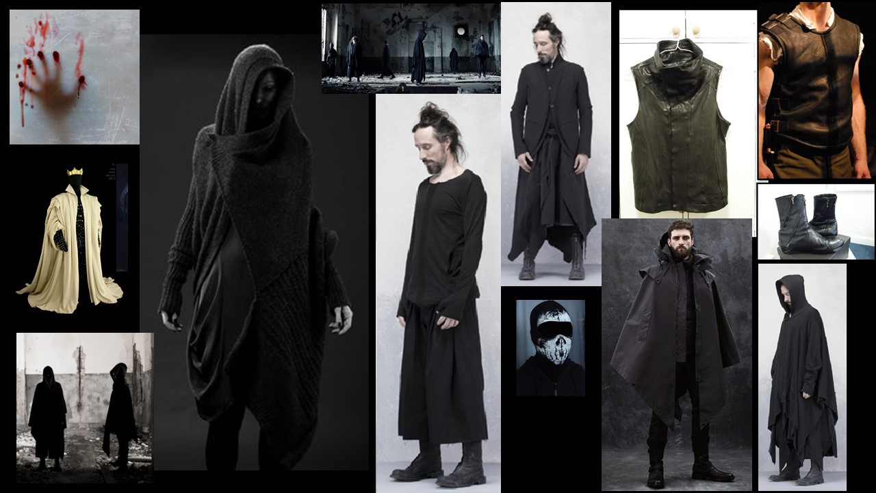 Male Costume Concept Board