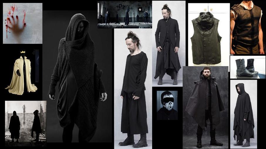 Male Costume Concept Board
