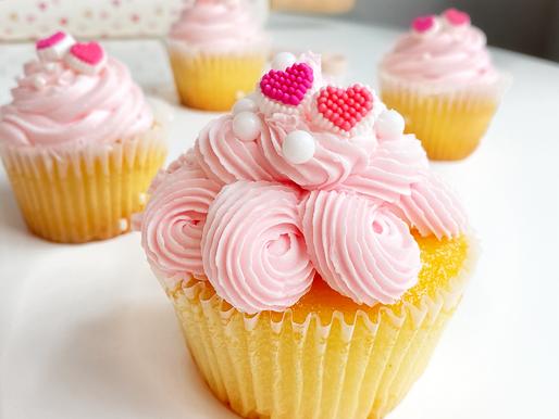 Pink Peach Cupcakes (pessêgo com um toque de Morango)