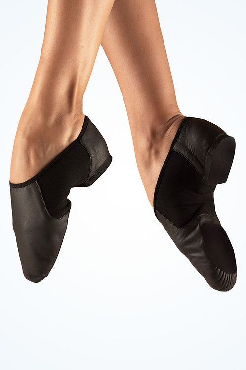 Slip On Split Sole Jazz Shoes Black