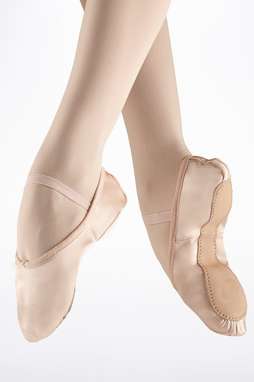 Full Sole Satin Ballet Shoes Pink