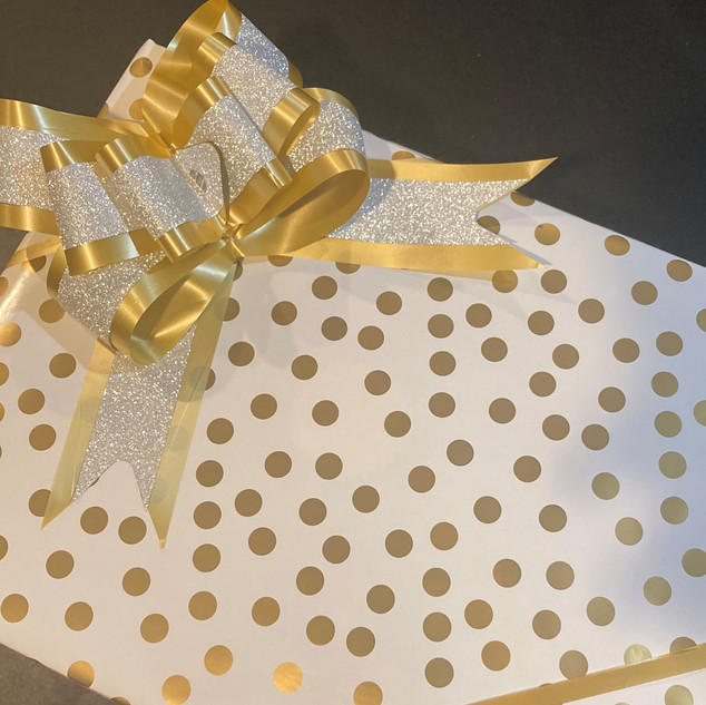 Gold & White Custom Wrapping