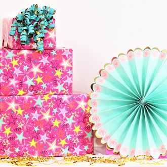 Bright Pink Girl Gift Wrap