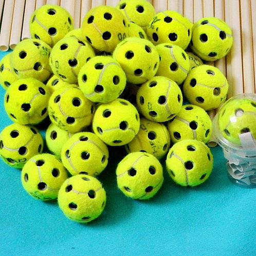 Builderball Tool · for making holes in tennisballs