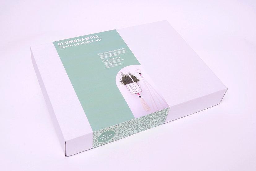 DIY-KIT Blumenampel (waldgrün | fuchsia | rosa)