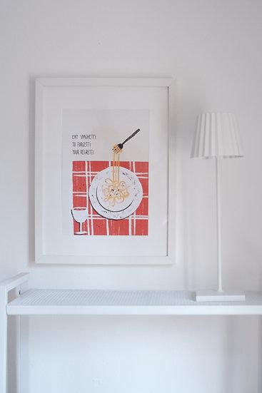 "Fineart-Print ""Eat Spaghetti"""