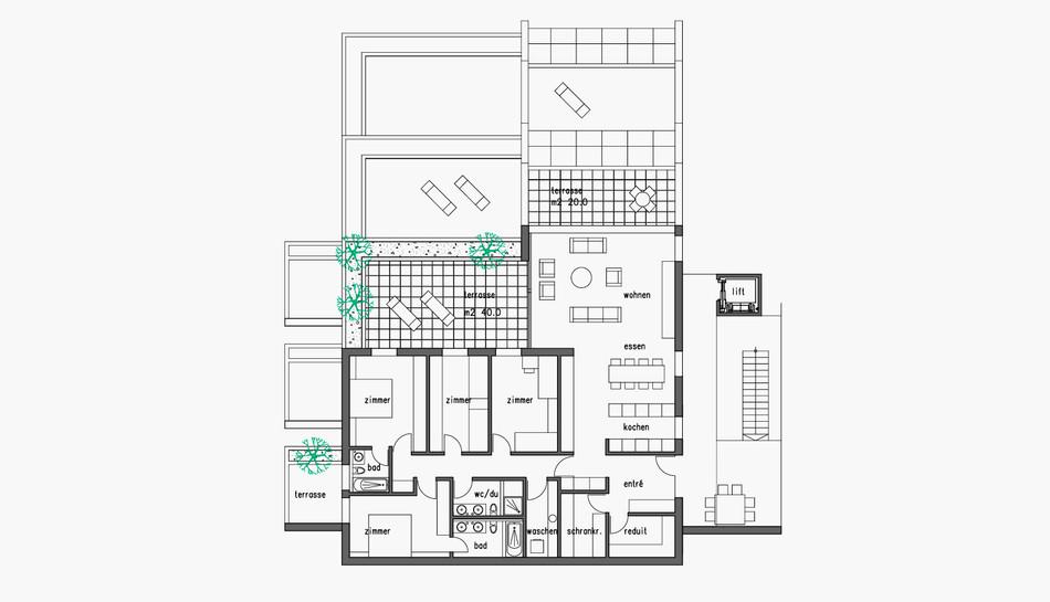 ebene 3 – oberstes terrassenhaus