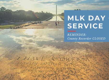 MLK Day of Service : REMINDER