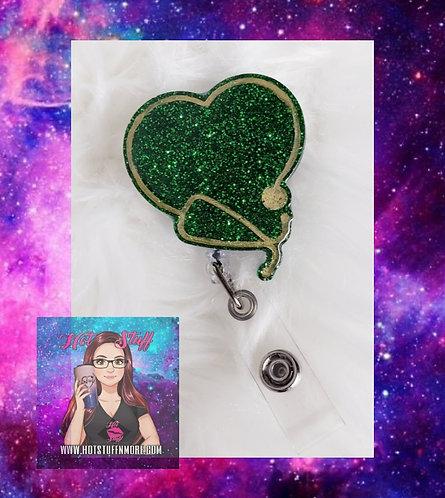 Heart Stethoscope Badge Reel