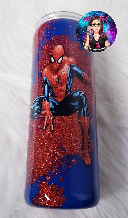 Spiderman Powerwash Glitter Tumbler