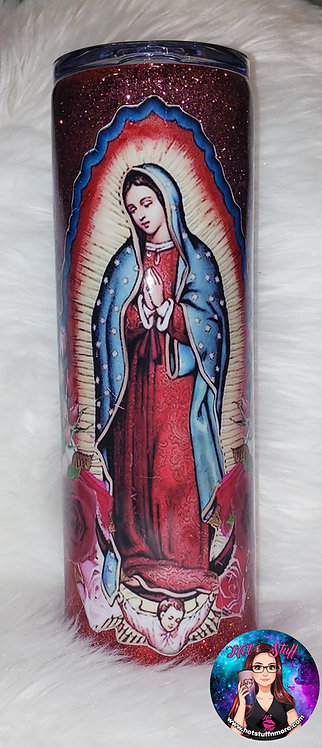 Virgen de Guadalupe Ombré Glitter Tumbler