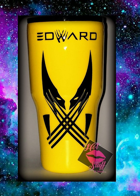 Yellow Customized Wolverine Stainless Steel Tumbler