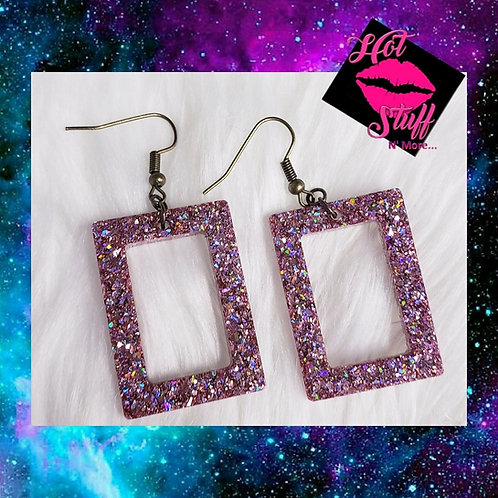Hallow Rectangle Dangle Earrings