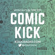 Comic Kick Postcard