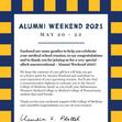 Alumni Weekend 2021 Swag Box Card - Back