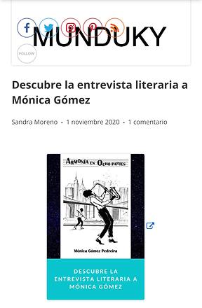 Descubre la entrevista literaria a Monic