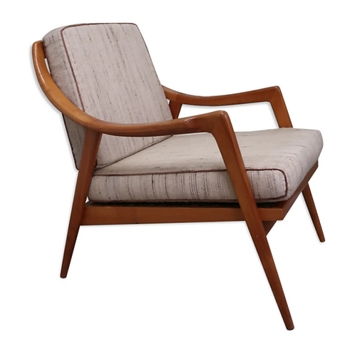 Scandinavian armchair from the 60s in wood and fabric