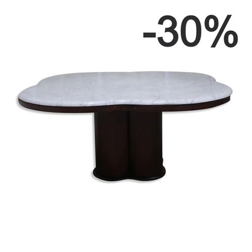 Carrara marble coffee table from the 60s / 70s in the style of Jean Royere